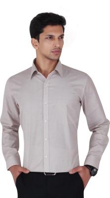 Cocablue Men's Solid Formal Brown Shirt