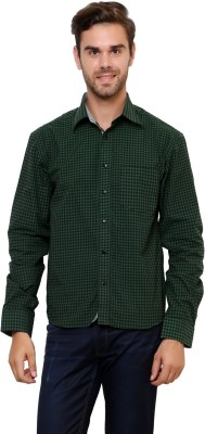 Lemon & Vodka Men's Checkered Casual Green Shirt