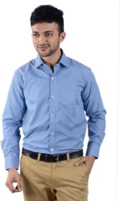 Cody Men's Striped Formal Blue Shirt