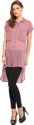 Rena Love Women's Solid Casual Pink Shirt