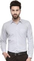 Hancock Formal Shirts (Men's) - Hancock Men's Printed Formal White Shirt
