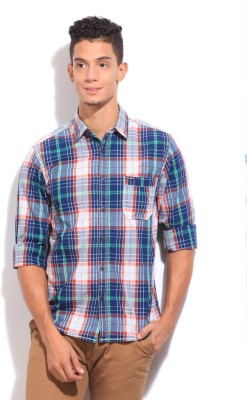 Pepe Jeans Men's Solid Casual Green Shirt