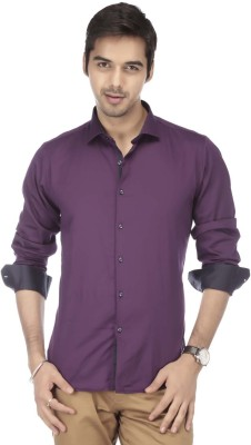 Vettorio Fratini by Shoppers Stop Men's Solid Formal Purple Shirt