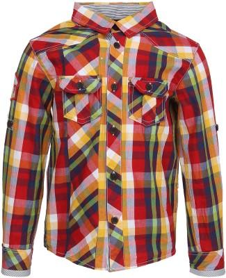 Silver Streak Boy's Checkered Casual Multicolor Shirt