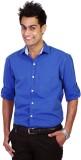 TGM Men's Solid Casual Blue Shirt