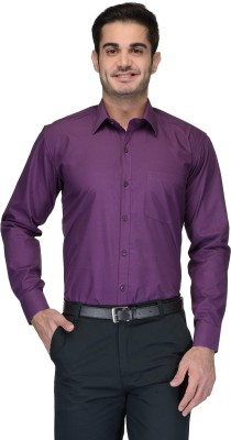 Being Fab Men's Solid Formal Purple Shirt