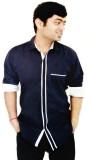 Hd Rascals Men's Solid Casual Blue Shirt