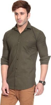 Pede Milan Men's Solid Casual Green Shirt