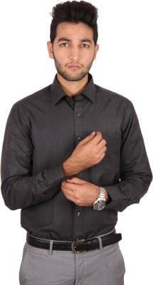 Styllus Men's Solid Formal Black Shirt