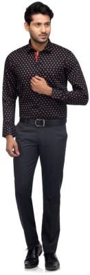 A A Store Men's Printed Casual Black Shirt