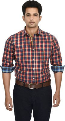 Hackensack Men's Checkered Casual Red Shirt