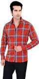 Jazzup Men's Checkered Casual Red, White...