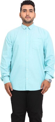 John Pride Men's Solid Casual Green Shirt