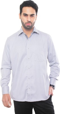 VinaraTrends Men's Solid Formal Grey Shirt