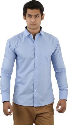 Aurus Men's Solid Formal Light Blue Shirt