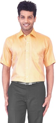 Mark Anderson Men's Solid Casual Gold Shirt
