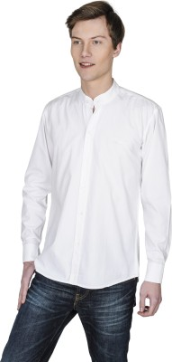 Poker Dreamz Men's Solid Casual White Shirt
