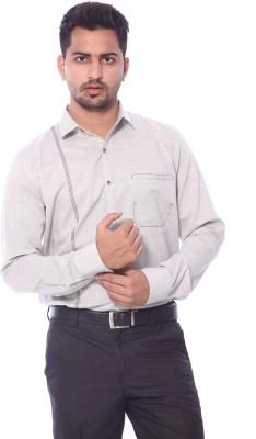Roger Clothier Men's Solid Lounge Wear Grey Shirt