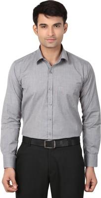 VAPE Men's Solid Casual Grey Shirt