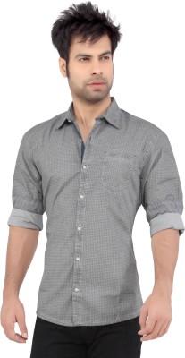Cod Jeans Men's Printed Casual Grey Shirt