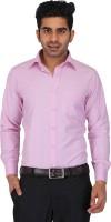 Prague Fashion Formal Shirts (Men's) - Prague Fashion Men's Solid Formal Pink Shirt