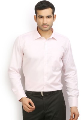 Odin Men's Solid Casual Pink Shirt