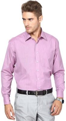 Shaftesbury London Men's Solid Casual Purple Shirt