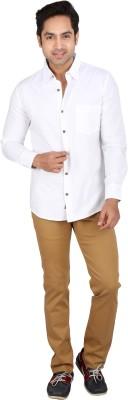 Tasho Zaara Men's Solid Casual White Shirt