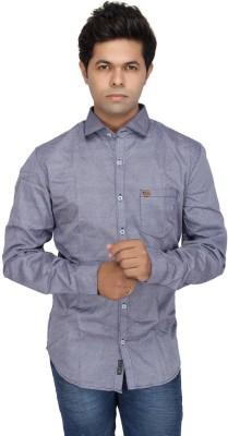 JG FORCEMAN Men's Chevron Casual Grey Shirt