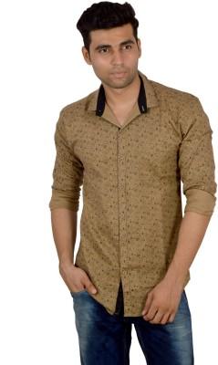 Studio Nexx Men's Printed Casual Brown Shirt