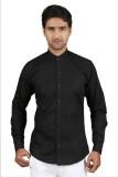 Kiez Men's Solid Casual Black Shirt