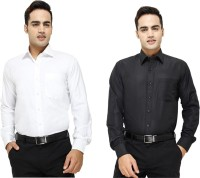 Try Me Formal Shirts (Men's) - Try Me Men's Solid Formal Multicolor Shirt(Pack of 2)