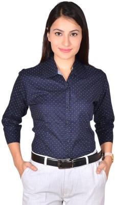 LGC Women's Printed Formal Blue Shirt