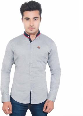 Goodkarma Men's Solid Casual Grey Shirt