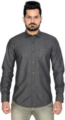 Thinc Men's Solid Formal Black Shirt