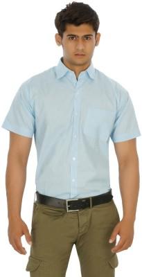 Venga Men's Solid Formal Blue Shirt
