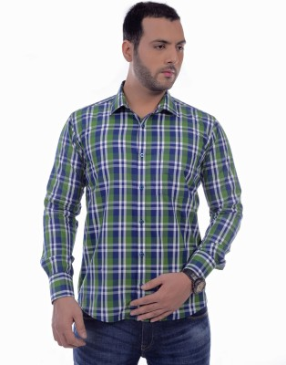 Zeal Mens Checkered Formal Multicolor Shirt