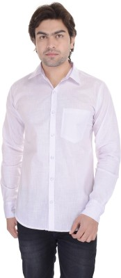 Lee Mark Men's Solid Casual White Shirt