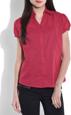 Being Fab Women's Solid Casual Pink Shirt