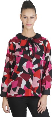 JAPPSHOP Women's Printed Casual Multicolor Shirt