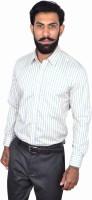 Urban Grandeur Formal Shirts (Men's) - Urban Grandeur Men's Striped Formal Yellow Shirt