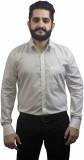 Aces Blue Men's Solid Formal Beige Shirt
