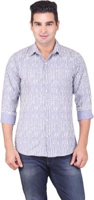 Alamurit Men's Printed Casual Grey Shirt