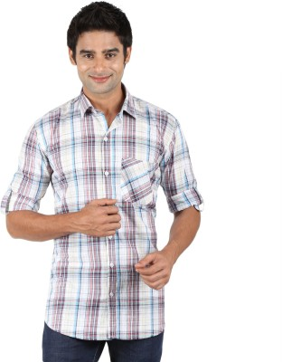 SNC Mens Checkered Casual Multicolor Shirt