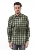 Monte Carlo Men's Checkered Casual Green...