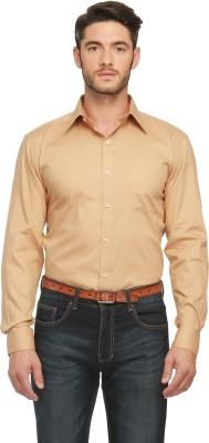 Jogur Men's Solid Casual Reversible Brown Shirt
