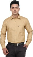 Fluteman Formal Shirts (Men's) - Fluteman Men's Solid Formal Beige Shirt