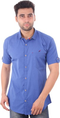 Studio Nexx Men's Solid Casual Blue Shirt