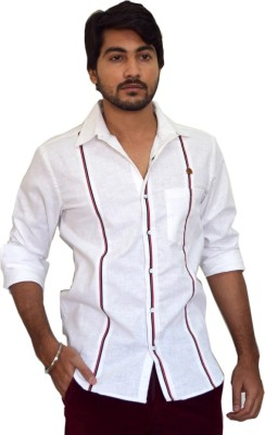 PP Shirts Men's Solid Casual White Shirt