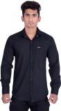 Vape Men's Solid Formal Black Shirt